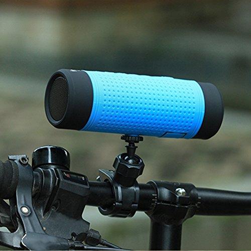 SueSupply Bluetooth Fahrrad Lautsprecher Bluetooth Spritzwassergeschützter Tragbarer Lautsprecher Subwoofer, Portabel für die Benutzung draußen, Beim Sport Oder Campen,Blau