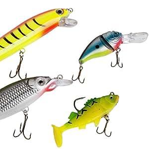 Matt Hayes Adventure–Confezione da 5diverse selezioni di esche per pesci predatori, ideale per la pesca al luccio, al pesce persico, al lucioperca, alla trota gigante, al salmone, alla spigola e allo sgombro, Plug Set 5