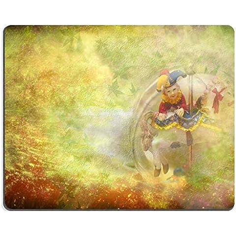 """MSD-Tappetino per mouse in gomma naturale, gioco ID: 12379783 """"immagine sfondo: Arlecchino e ferro di cavallo, con copia spazio"""