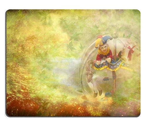 Msd Natural rubber Gaming Mousepad Image ID: 12379783Old Toy sfondo Arlecchino e cavallo con copia spazio