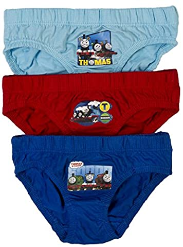 NEW KIDS BOYS 3 PACK OFFICIAL THOMAS THE TANK ENGINE TRAINS BRIEFS PANTS UNDERWEAR SET TODDLERS SIZE 18 months - 5