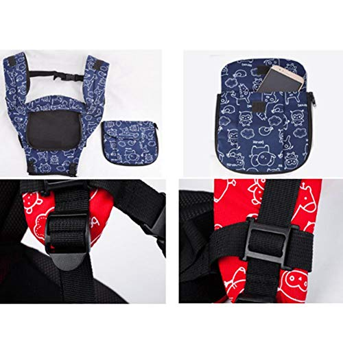Udxvsdfhd Baby Carrier Ergonomic Comfort Safety Baby Carrier Multi-Function Four Seasons Breathable Baby Seat,Blue Back Carrier  udxvsdfhd