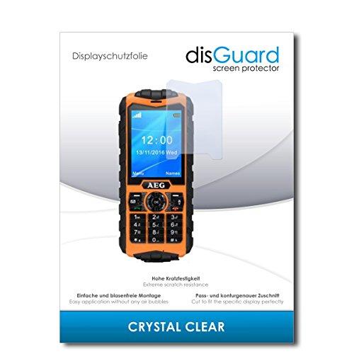 disGuard® Bildschirmschutzfolie [Crystal Clear] kompatibel mit AEG M550 [2 Stück] Kristallklar, Transparent, Unsichtbar, Extrem Kratzfest, Anti-Fingerabdruck - Panzerglas Folie, Schutzfolie