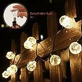 LED Globe Lichterkette G40 3.6m 12 Glühbirnen Innen Außen Beleuchtung Warmweiß Lichterketten Wasserdicht Weihnachtsbeleuchtung für Garten Weihnachten Hochzeit Party Weihnachtsbaum von Fochea (Warmweiß)