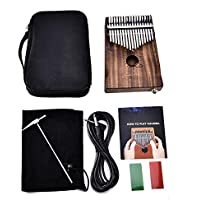 Kalimba 17llaves Piano Piano Kalimba Songbook y tuning Hammer y picos del pulgar para Mbira Sanza instrumento de pulgar–fancylande