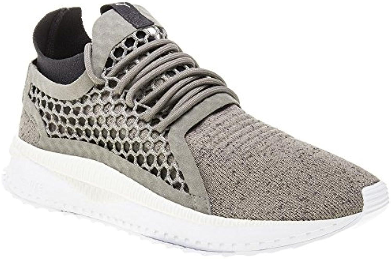Puma Tsugi Netfit v2 Evoknit Shoes Rock Ridge Asphalt White 2018