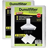 Dunstfilter im 4er Pack Dunstabzugshaubenfilter Fettfilter Filter Basic Qualität 100 g/m² oder Premium Qualität 150 g/m² ( Basic Qualität 100 g/m² )