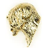 SOFT COATED WHEATEN TERRIER Made in U.K Artistic Style Dog Clutch Lapel Pin Collection 22ct Gold Plated by DOG ARTS JP