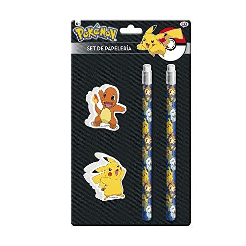 Pokemon gs-411-pk Pikachu und Glumanda Stationery Set (Pokemon Geschenk-karte)
