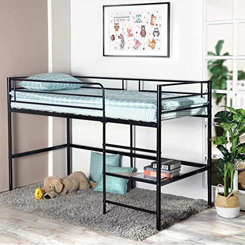 Aingoo Einzelbett Schlafsofa mit Lattenrost Gästebett Metallbett Tagesbett Bettgestell für...