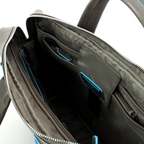 Piquadro Blue Square Kurzgrifflaptoptasche mit iPad/iPad Air-Fach 39 cm Grau