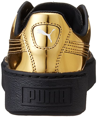 Puma Damen Basket Platform Core Sneaker Gold