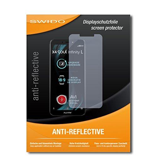 SWIDO Bildschirmschutz für Allview X4 Soul Infinity L [4 Stück] Anti-Reflex MATT Entspiegelnd, Hoher Härtegrad, Schutz vor Kratzer/Glasfolie, Schutzfolie, Bildschirmschutzfolie, Panzerglas Folie