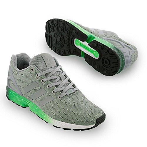 adidas ZX Flux, Chaussures de course homme Gris / Verde