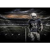 Vlies Fototapete PREMIUM PLUS Wand Foto Tapete Wand Bild Vliestapete - Football American Football Helm Wolken Sport - no. 2961, Größe:208x146cm Vlies