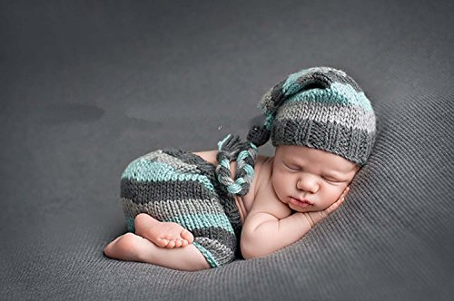 Erste Kostüm Szene - Jastore ® Foto Fotografie Prop Baby Junge Kostüm Nette Grau Stricken Handarbeit