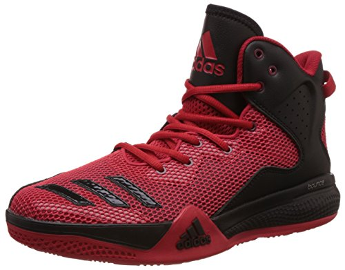 adidas Herren Dt Bball Mid Basket, Multicolore (Scarle/Ftwwht/Powred), 45 1/3 EU