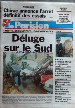 PARISIEN EDITION DE PARIS (LE) [No 15979] du 19/01/1996