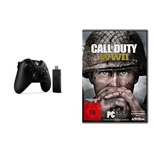 Xbox Controller + Wireless Adapter für Windows + Call of Duty: WWII - Standard Edition - [PC]
