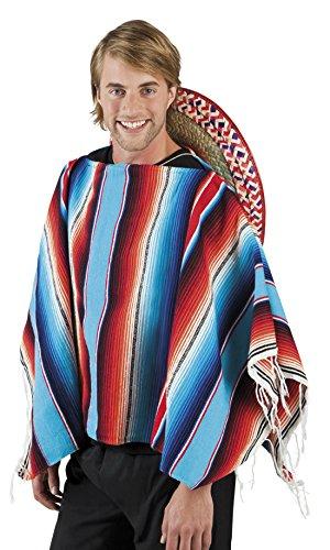 Halloweenia - Kostüm Poncho Mexiko Motto Party Erwachsenen Kostüme, 120x120cm, (Spinnennetz Kostüm Poncho)