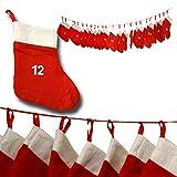 Image of JEMIDI Adventskalender Kette Adventskette XL XXL zum befüllen Selbstbefüllen Große Säckchen (...und jedes Jahr wiederverwendbar!!!)