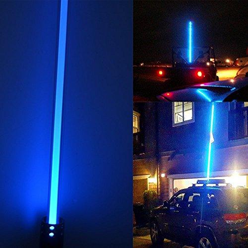 LED-Antenne Licht New Night Stalker Peitsche führte Strand Peitschen Flag Light 1,5 m Motorrad ATV UTV Sand Dune Flagge LED Bar für Outdoor Offroad Snowmobile Motorrad (blau)