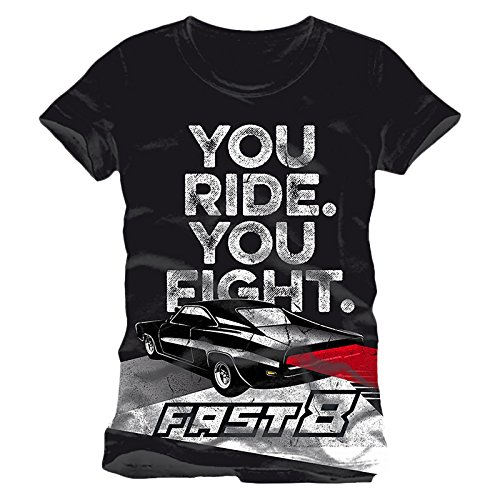 Fast and Furious 8 Men T-Shirt You Ride You Fight Grey