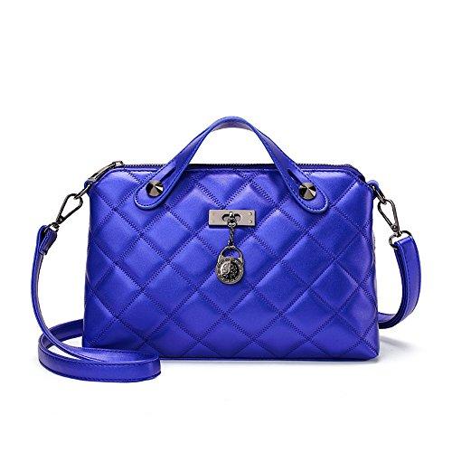 Meoaeo Nuovo Nuovo Borsetta Borsetta Tracolla Lingge Mano Lady Bianco Sapphire blue