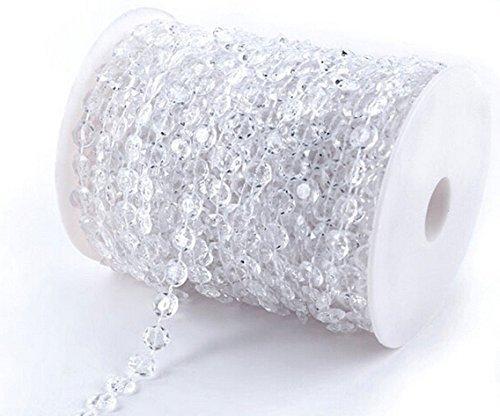Musuntas 30m / 99ft colgantes de cristal de la boda Decoración de Nav