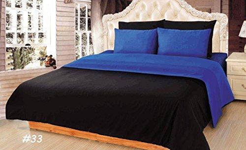 Tache 4–6Stück Solid wendbar Tröster Set in verschiedenen Größen und Farben, baumwolle, blau, Volle Größe