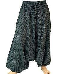 Haremshose Pluderhose Pumphose Aladinhose aus Baumwolle schwarz / Pluderhosen und Aladinhosen