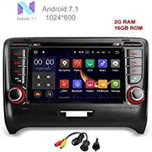 freeauto Quad Core Android 7.1coche reproductor de DVD GPS Radio estéreo sistema de navegación para Audi TT 2006–2013con USB/SD/volante/Bluetooth/Wifi/3G/AV-IN/16GB memoria