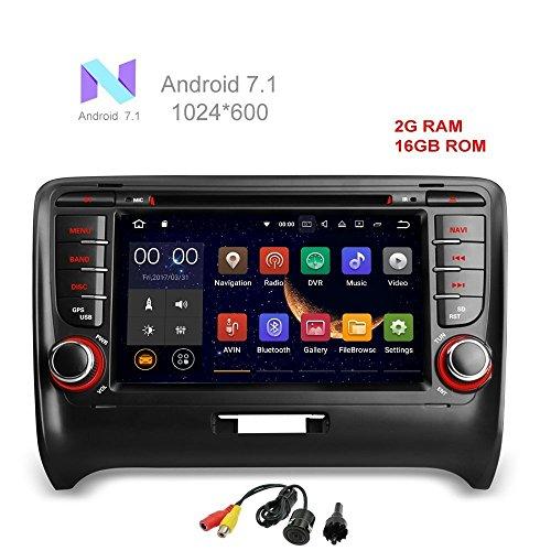 Stereo-navigations-systeme Auto (freeauto für Audi TT 2006–2013–Quad Core Android 7.1Auto DVD Player GPS Radio Stereo Navigation System mit USB/SD/Lenkrad/Bluetooth/WLAN/3G/AV/16GB Memory)