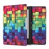 kwmobile Elegante borsa di ecopelle per il > Kobo Aura H2O < in Design cubi arcobaleno multicolore verde blu - kwmobile - amazon.it