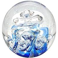Antiquitäten & Kunst Blau-weiße Traumkugel Glaskugel Briefbeschwerer ein Traum Dekorglas