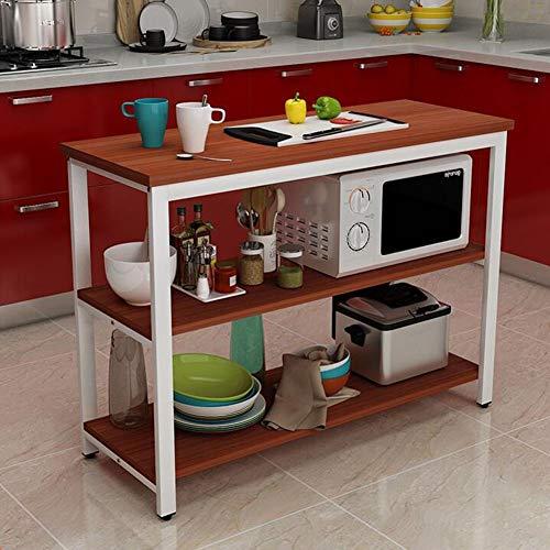 Arredamento Forno A Microonde Scaffale 3 Tier Tavolo della Cucina Ripiani Angolari per unità Autoportanti Rack Organizzazione...