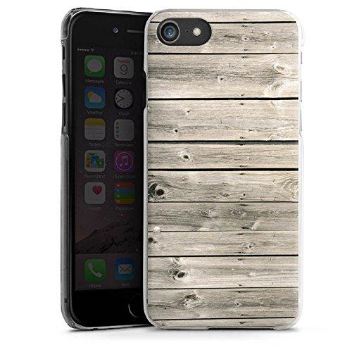 Apple iPhone X Silikon Hülle Case Schutzhülle Graue Holzlatten Holz Look Planken Hard Case transparent