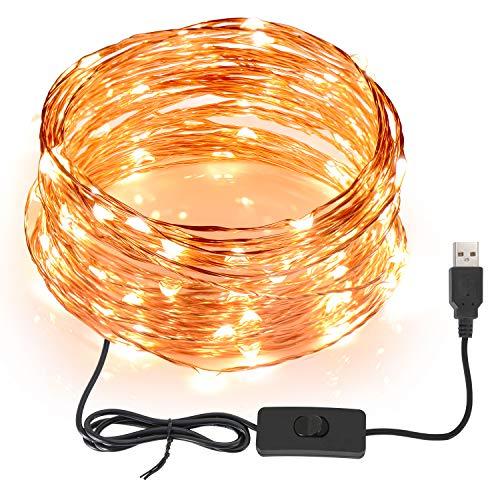 SUNNEST Guirnaldas luces exterior 12M 120 LED Conexión