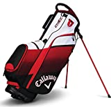 Callaway Chev, Borsa con Supporto, per Golf Unisex, Black/Red/White, Taglia Unica