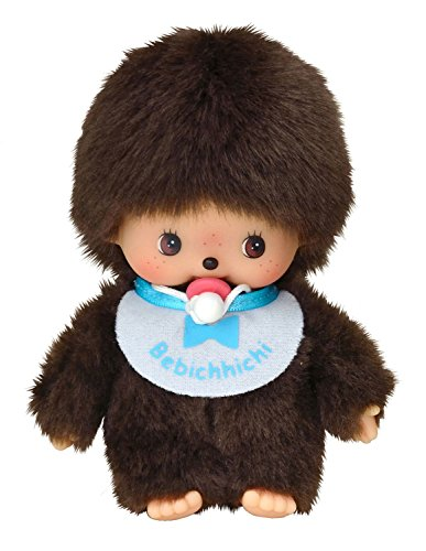 Sekiguchi 235540 - Plüschtier-Bebichhichi Junge Basic 15 cm mit Lätzchen