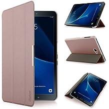 iHarbort® Samsung Galaxy Tab A 10.1 Funda - ultra delgado ligero Funda de piel de cuerpo entero para Samsung Galaxy Tab A 10.1 pulgada (2016 Version SM-T580N SM-T585N) con la función del sueño / despierta (Galaxy Tab A 10.1, Oro rosa)