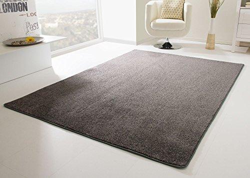 Designer Teppich Modern Cambridge in Anthrazit, Größe: 240x340 cm