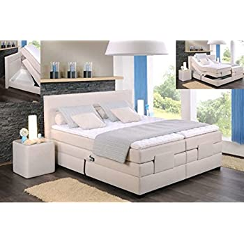 oschmann comfortbetten filou motor boxspringbett 180x200 cm creme lagerware. Black Bedroom Furniture Sets. Home Design Ideas
