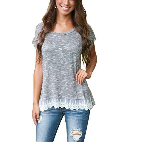 bellezza-donna-t-shirt-camicia-maniche-corte-pizzo-maglietta-ragazza-tops-estate