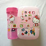Shopkooky Lunch Box For Kids With Water Bottle Kitty Printed Combo Pack Premium Quality Material Specially Designed For School Going Children Boys Girls Kids Return Gifts For Kids Birthday In Bulk
