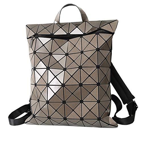 Yuany Geometrische Raute Rucksack Brieftasche Schulreise Mode lässig Mini Rucksack Frau wasserdicht tragbare große Kapazität Laser Tasche