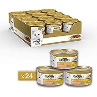Gourmet Purina Gold Umido Gatto Dadini in Salsa con Salmone e Pollo - 24 Lattine da 85 g Ciascuna (Confezione da 24 x 85 g)