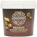 Biona Mantequilla De Maní Orgánico 1Kg Crujiente (Paquete de 2)