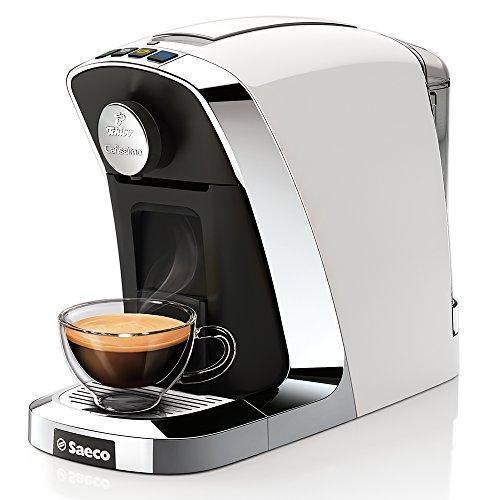 Saeco Cafissimo Tuttocaffé Kapselmaschine (für Kaffee, Espresso, Caffé Crema und Tee) weiß