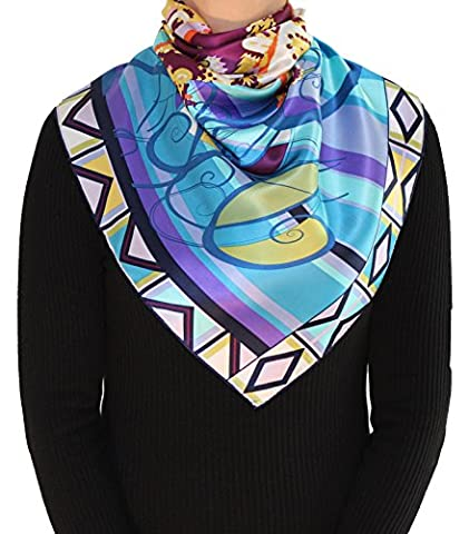Scarves of Silk 'Aida': luxurious 100% silk scarf with hand-rolled